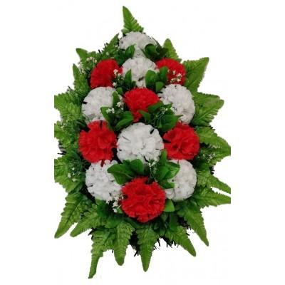 Венок траурный из искусственных цветов №4055