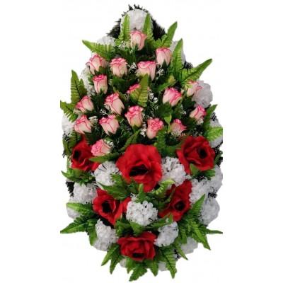 Венок траурный из искусственных цветов №4253