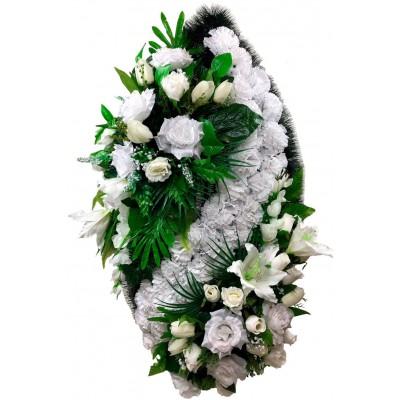 Венок ритуальный из искусственных цветов №4158