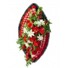 Венок ритуальный из искусственных цветов №4259