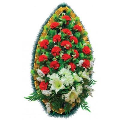 Венок ритуальный из искусственных цветов №4260
