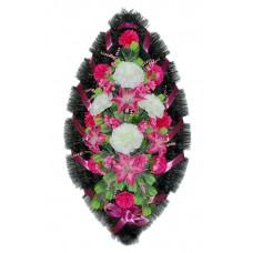 Венок ритуальный из искусственных цветов №4064