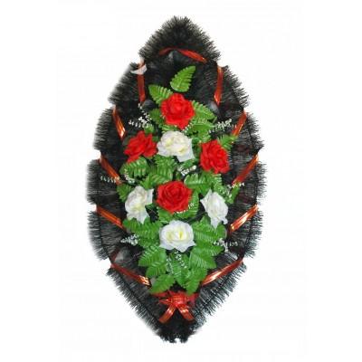 Венок ритуальный из искусственных цветов №4265
