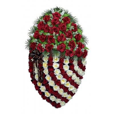 Венок ритуальный из искусственных цветов №4166
