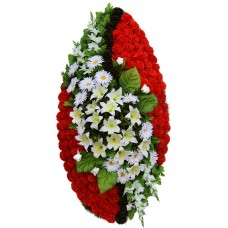 Венок ритуальный из искусственных цветов №4267