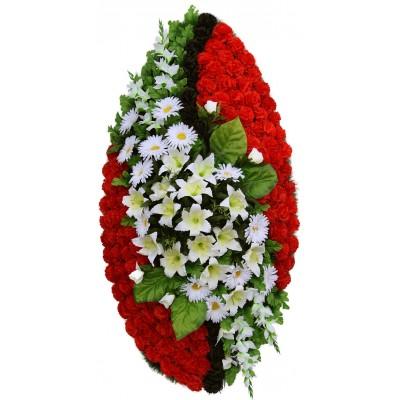 Венок ритуальный из искусственных цветов №4067