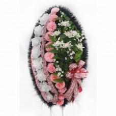 Венок ритуальный из искусственных цветов №4269