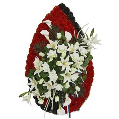 Венок траурный из искусственных цветов №4170