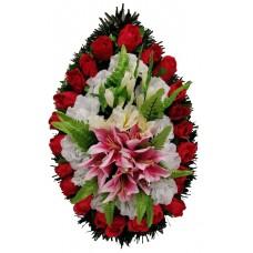 Венок траурный из искусственных цветов №4056
