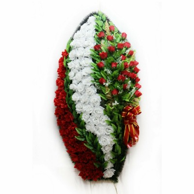 Венок ритуальный из искусственных цветов №4062