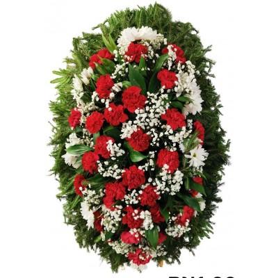 Венок ритуальный из живых цветов №3252