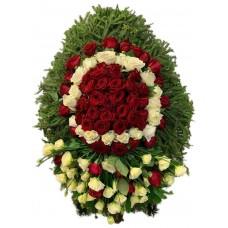 Венок ритуальный из живых цветов №3353