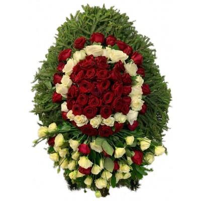 Венок ритуальный из живых цветов №3153