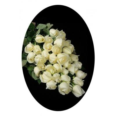 Букет из 30 белых роз №7518