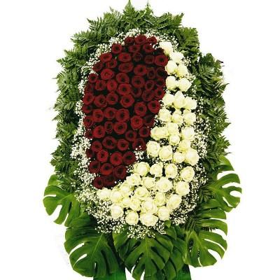 Венок из живых цветов №3022