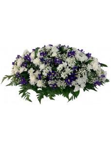 Композиция на крышку гроба из живых цветов (флоретка) №7525