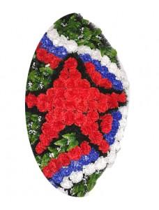 Венок из искусственных цветов  с искусственной хвоей №5102