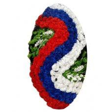 Венок из искусственных цветов  с искусственной хвоей №5203