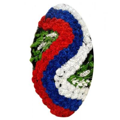 Венок из искусственных цветов  с искусственной хвоей №5003