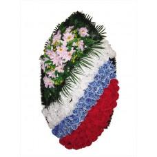 Венок из искусственных цветов  с искусственной хвоей №5207