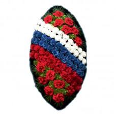 Венок из искусственных цветов  с искусственной хвоей №5208