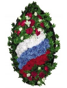 Венок из искусственных цветов  с искусственной хвоей №5009