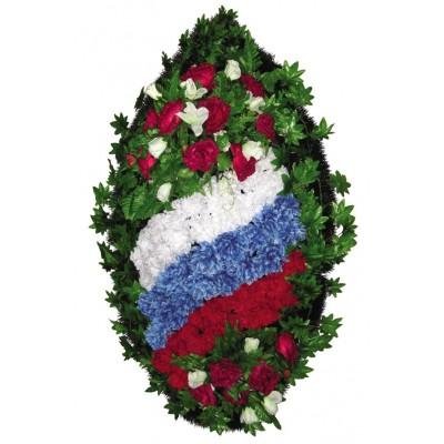Венок из искусственных цветов  с искусственной хвоей №5109