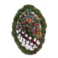 Венок из живых цветов №3211