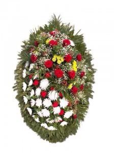 Венок из живых цветов №3212