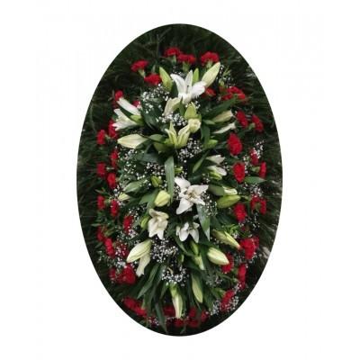 Венок из живых цветов №3016