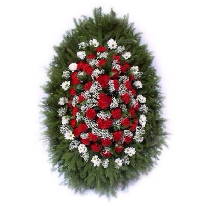 Венок из живых цветов №3101