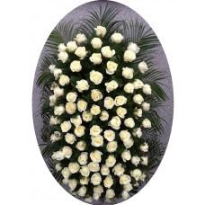 Венок из живых цветов №3119