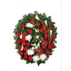 Венок из живых цветов №3221