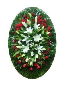 Венок из живых цветов №3203