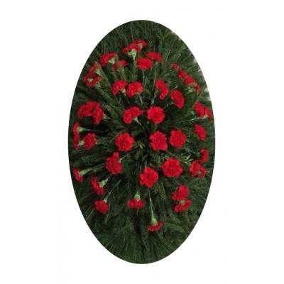 Венок из живых цветов №3024