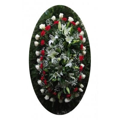 Венок из живых цветов №3125