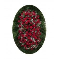 Венок из живых цветов №3209