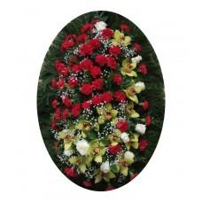 Венок из живых цветов №3208
