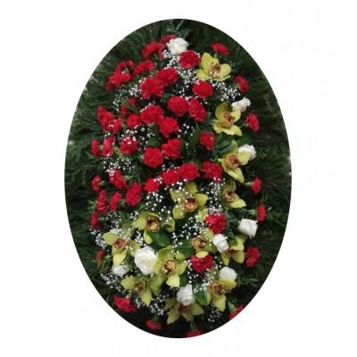 Венок из живых цветов №3008