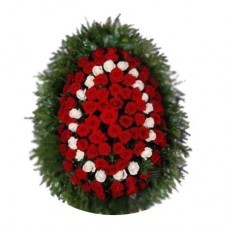 Венок из живых цветов №3102