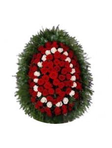 Венок из живых цветов №3202