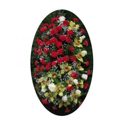 Венок из живых цветов №3026