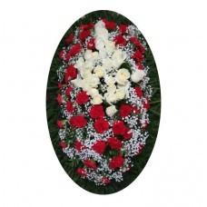 Венок из живых цветов №3027