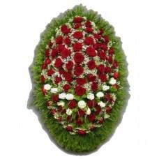 Венок из живых цветов №3204
