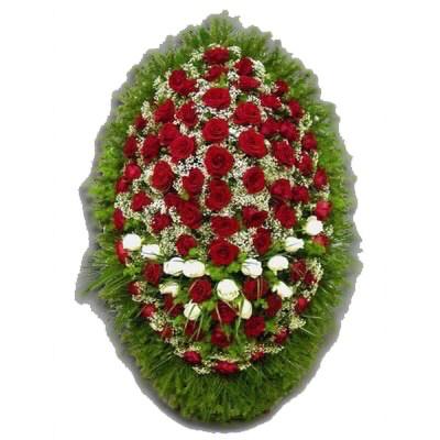 Венок из живых цветов №3004