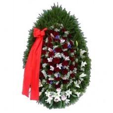 Венок из живых цветов №3205