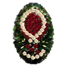 Венок из живых цветов №3006