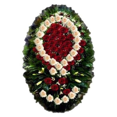 Венок из живых цветов №3106