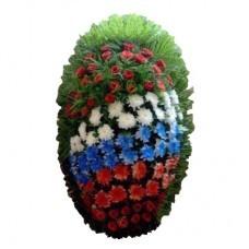 Венок из живых цветов №3207