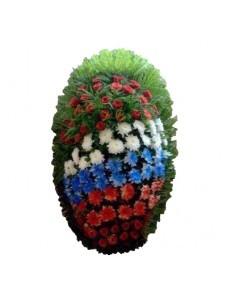 Венок траурный из живых цветов №3207